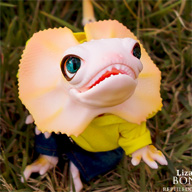 Lizard bono yellow - Reptile Doll